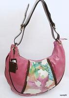 Pulicati Italy Leather/calf Hair Large Hobo Shoulder Bag Handbag Lavender
