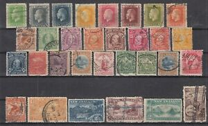 D3060-NEW-ZEALAND-1900-1930-USED-SEMI-MODERN-LOT-CV-375