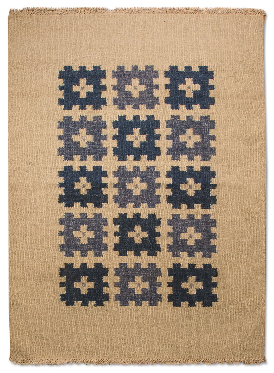 morgenland kelim kilim teppich erana handgewebt kurzflor schurwolle beige blau ebay. Black Bedroom Furniture Sets. Home Design Ideas