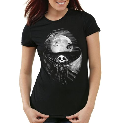 Munch Nightmare Damen T-Shirt jack skellington schrei christmas before burton