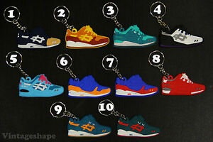 Details about Asics Keychain All color Sneaker Mint Hanon Miami Teal Dragon Ronnie Fieg