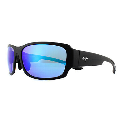 Occhiali Da Sole Maui Jim Monkeypod B441-2m Matte Black Blue Hawaii Polarized-mostra Il Titolo Originale Styling Aggiornato