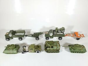 Vintage-Hot-Wheels-Tootsietoy-Military-US-Army-Equipment-LOT-1-64-Diecast-Lot