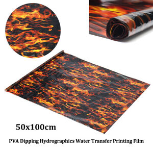 PVA-Hydrographic-Film-Water-Transfer-Printing-Film-Hydro-Dip-Black-Flame-Fiber
