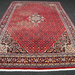 Orient Teppich Rot 366 X 258 Cm Herati Muster Alter Perserteppich