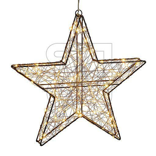 LED Stern Weihnachtsdekoration warmweißen LED 3D-Metall-Weihnachtsstern 80 cm