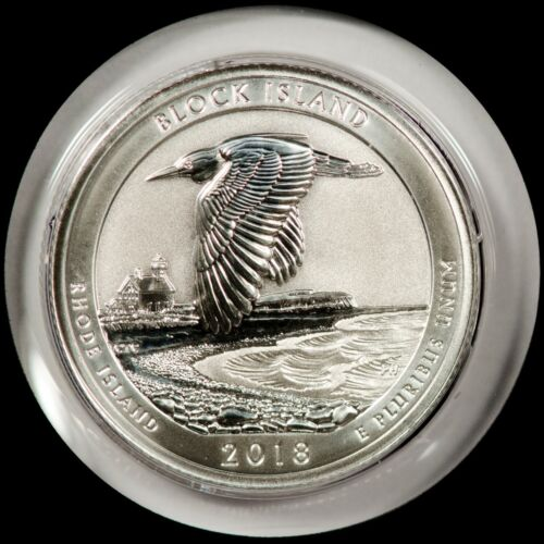 5 Coins S Mint Silver Reverse Proof Quarter Set 2018 90/% SILVER!