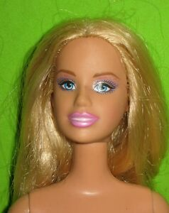 A real nude blond barbie with you