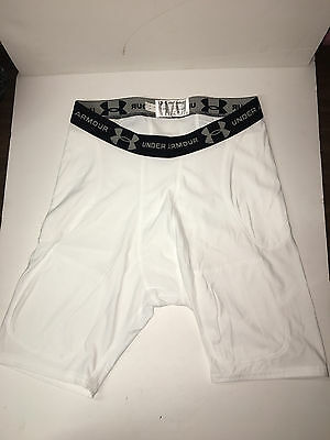 Game Used Dallas Cowboys Under Armour White 2XL Compression Shorts