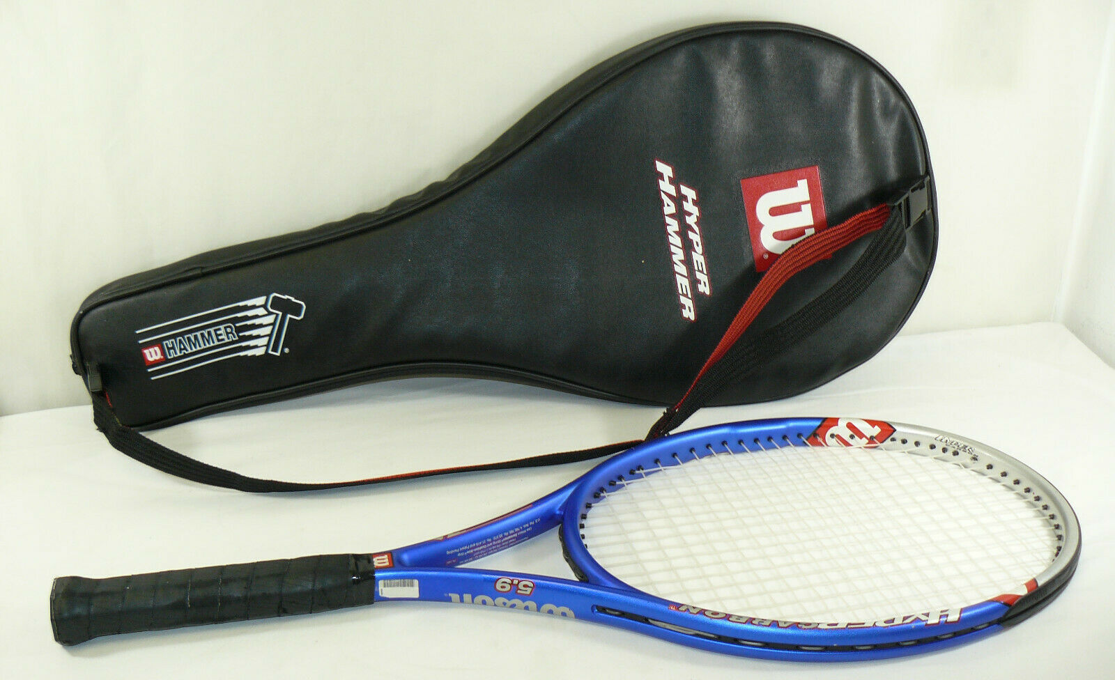 Wilson Hyper Hammer 5.9 Cochebono 110 Sq en cabeza tenis raqueta agarre con bolsa de 4 1 2