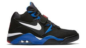 Details about 2016 Nike Air Force 180 Black Sport Royal Size 12. 310095 011 Jordan Barkley