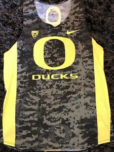 the latest c19cd 0fed5 Details about Oregon DUCKS Team Issued Nike Cross Country Track and Field  Jersey Singlet Rare