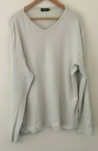 PETER-WERTH-MEN-039-S-RIBBED-LONG-SLEEVED-TOP-SIZE-5-XL-LIGHT-BLUE-USED