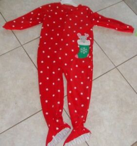 4b3b556afca2 Carter s Toddler girl 4T Footed Pajamas MOUSE Blanket Sleeper RED ...