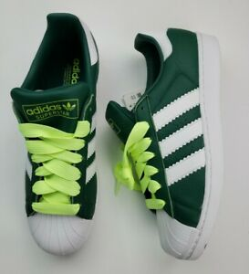 Adidas-Superstar-Shoes-Collegiate-Mens-Size-11-5-Green-Cloud-White-Yellow-BD7419