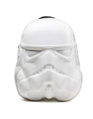 OFFICIAL STAR WARS - STORM TROOPER MASK 3D PLASTIC MOLD WHITE BACKPACK BAG (NEW)