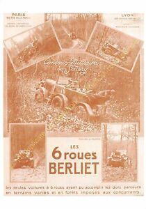 Sepia Postcard Ads Advertising Automobile Berliet Edit 3615 PUB13