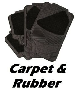 MERCEDES-Carpet-amp-Rubber-Front-amp-Rear-Universal-Car-Mats-Heavy-Duty-4-Piece-Set