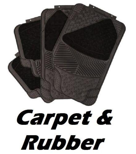 Renault alfombras y goma delanteras y traseras Universal Coche Esteras Heavy Duty 4 Pieza Conjunto