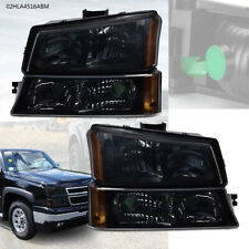 Pair Corner Headlight Fit For 03 06 Chevrolet Silverado Avalanche Leftright Fits More Than One Vehicle
