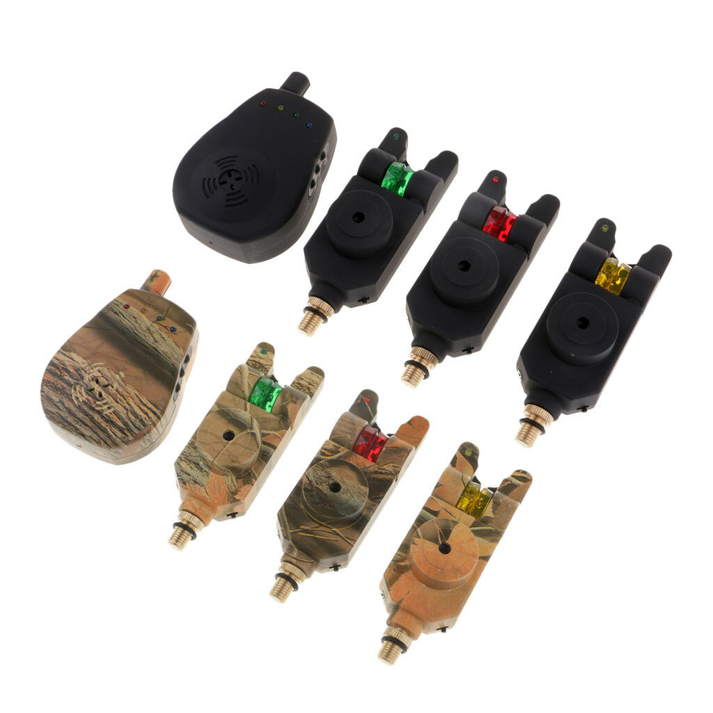 3+1 Wireless Waterproof Bite Alarms Set with Receiver in case, Carp Fishing