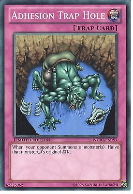 Adhesion Trap Hole WGRT-EN083 Super Rare Yu-gi-oh Card Mint Limited Edition New
