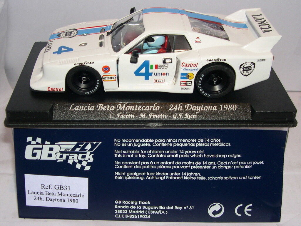 FLY GBRACK GB31 LANCIA BETA MONTECARLO H DAYTONA '80 FACETTI-FINOTTO-RICCI