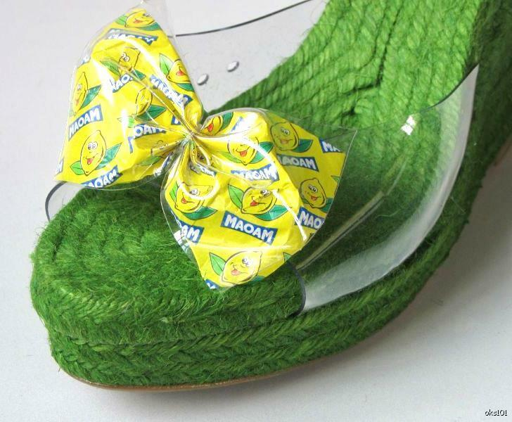 Nuevo verde arco Lima Castaner CANDY WRAPPER arco verde Alpargatas Cuñas Zapatos De Plataforma España 4e905c