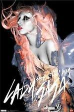 2011 FUNKY LADY GAGA BORN THIS WAY ORANGE HAIR POSTER 22x34 FAST FREE SHIPPING