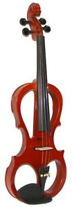NEW-MADERA-BROWN-4-4-ELECTRIC-VIOLIN-PACKAGE-WITH-CASE-BOW-ROSIN-V2000CEQ