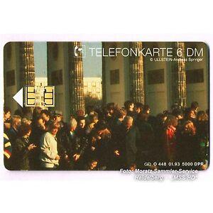 Brandenburger Tor 1989 - einzelne Telefonkarte Nr. O-448 aus Puzzle, Feld 5 - Heidelberg, Deutschland - Brandenburger Tor 1989 - einzelne Telefonkarte Nr. O-448 aus Puzzle, Feld 5 - Heidelberg, Deutschland