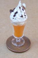 1:12 Scale Orange Ice Cream Sundae Dolls House Miniature Food Accessory O8