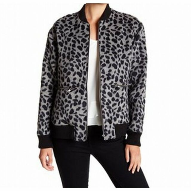 1818469d5489 Ro & De Gray Women's Size Large L Textured Bomber Animal Printed Jacket  #792 for sale online   eBay