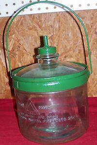 Antique-Glass-Kerosene-Jug-Bottle-Old-Vintage-Stove-Cleveland-Metal-Products-Co