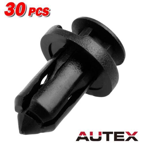 30x Nylon Front Bumper Cover Trim Clips Rivet Retainer for Infiniti EX35 EX37