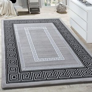 Tapis-Salon-Bordures-Decoration-Motif-Abstrait-Design-Chine-Gris