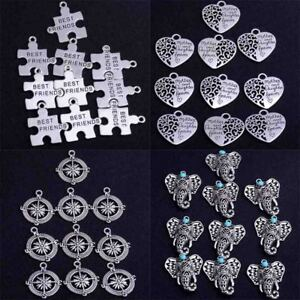 10X-Tibetan-Silver-Charms-Pendant-Craft-Jewellery-Gift-Elephant-Heart-DIY-Beads
