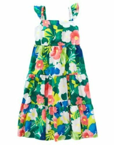 NWT Gymboree Sunny Safari Tropical Midi Dress 4 5 6 7 8 10 Girls