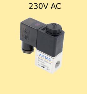 """Pneumatik válvula 2//2 vías 230 voltios 1//4/"""" 1,5-10 bar 2 vías válvula de solenoide de"""