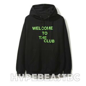 c89e959321f0 Details about Anti Social Social Club Welcome to the Club Black Hoodie ASSC  Green Black Large