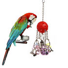 Pet Bird Bites Parrot Chew Bell Ball Hanging Parakeet Cockatiel Swing Cage Toys