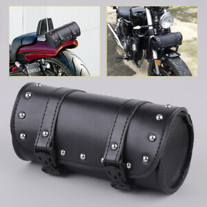 Leder Satteltasche f/ür Harley-Davidson Motorrad-Werkzeugrolle 20/x/10 Moto Guzzi Triumph