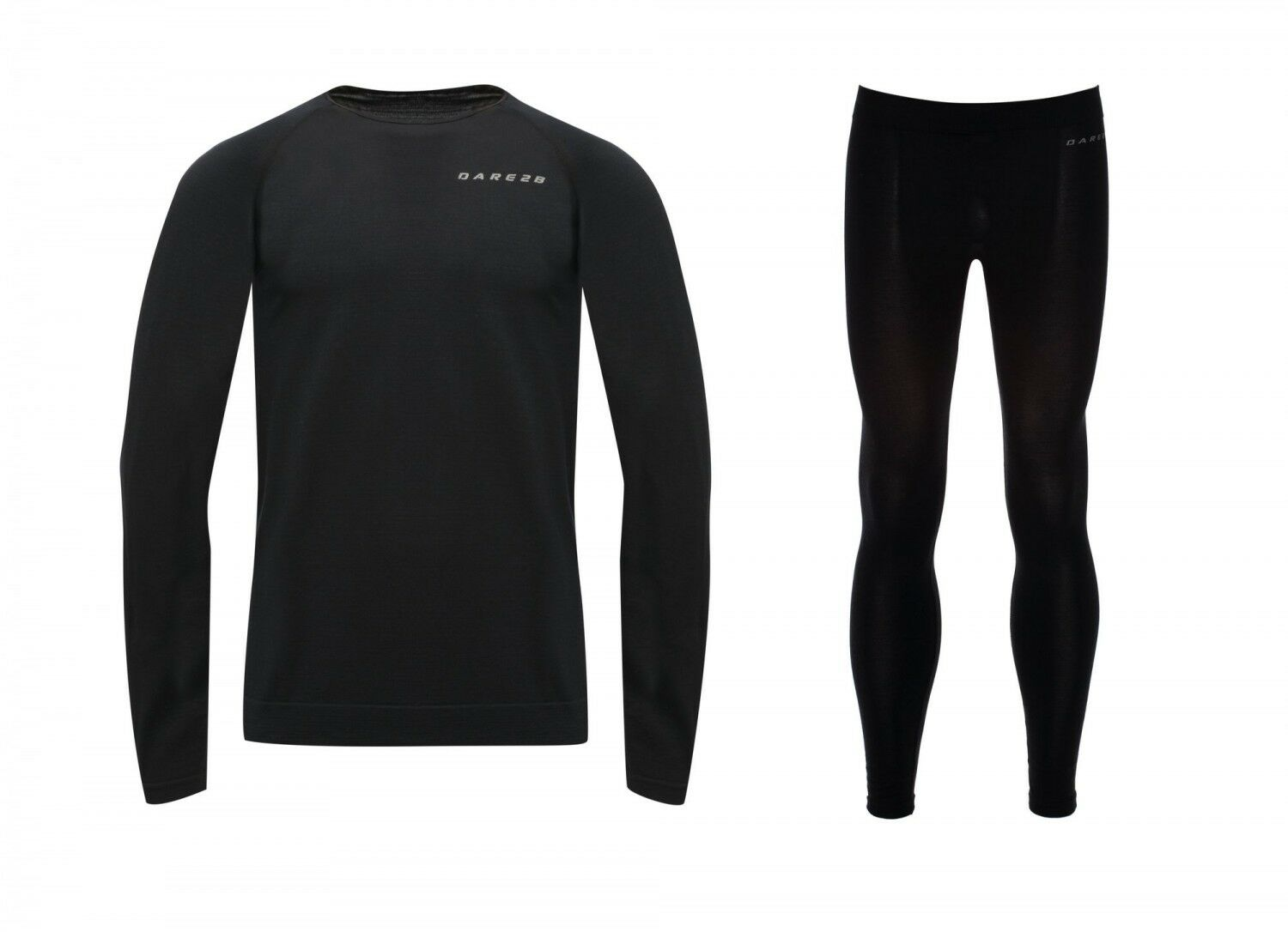 Dare2b Herren Herren Herren Ski Unterwäsche IN MODE BASE LAYER SET schwarz dbbc53