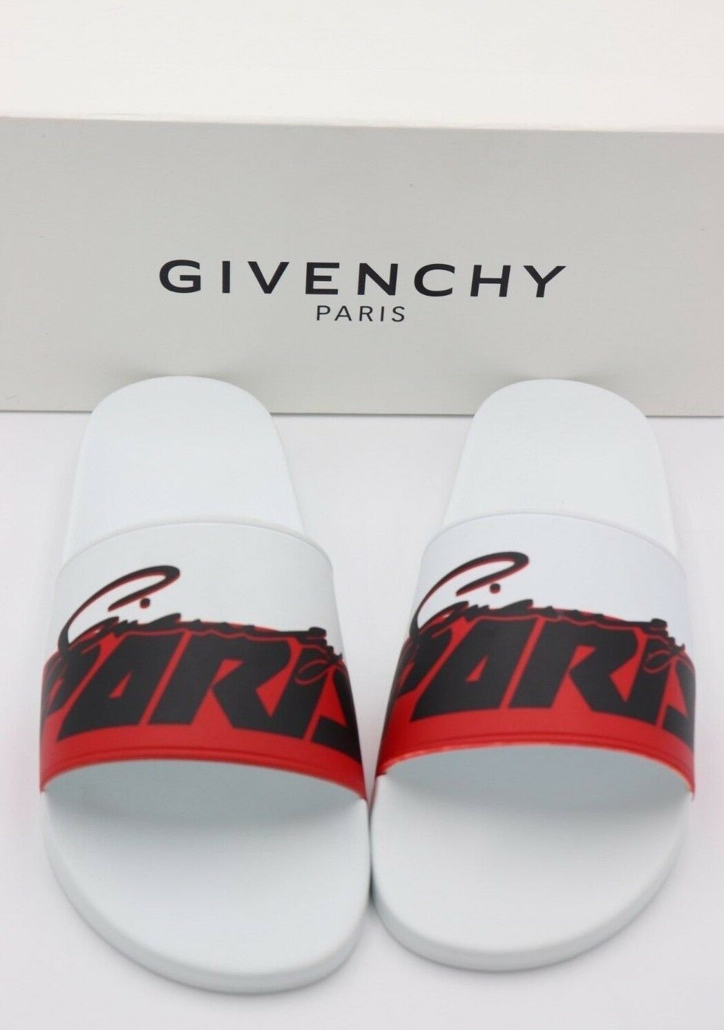 NIB GIVENCHY Paris Mens Printed Motocross Pool Slide Sandals New New New 14 47   325 f6df16