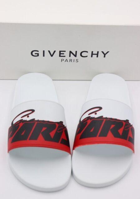 f1db8565c8b NIB GIVENCHY Paris Mens Printed Motocross Pool Slide Sandals New 14 47  325