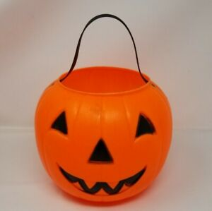 Empire-Blow-Mold-Halloween-Jack-O-Lantern-Pumpkin-Candy-Trick-Treat-Bucket-Pail
