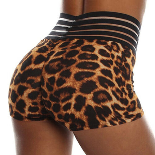 Women Yoga Gym High Waist Shorts Fitness Hot Pants Beach Sports Push UP Pants LC