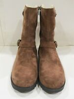 New in Box UGG Australia Womens W Brown Grandle Suede Leather Winter Boots 5