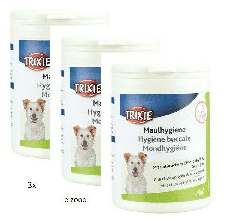 3 Piece Trixie Maulhygiene, with Chlgoldphyll, 3 X