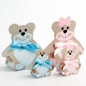 Image Is Loading Blue Or Pink Teddy Bear Childrens Party Christening